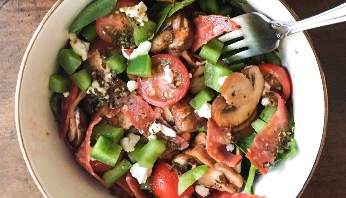 Supreme Pizza Salad w/ Italian Herb Vinaigrette