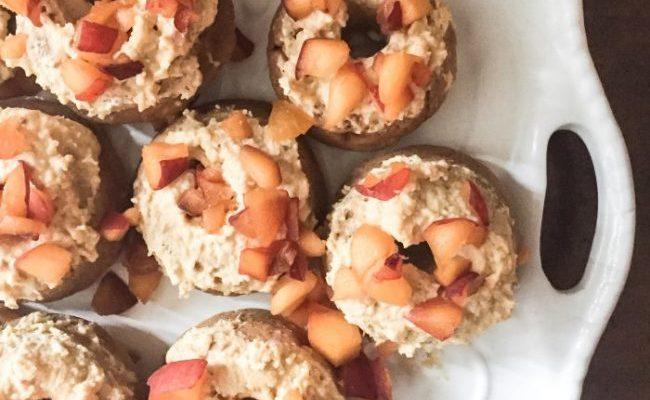 Gluten-Free Peaches and Coconut Cream Doughnuts