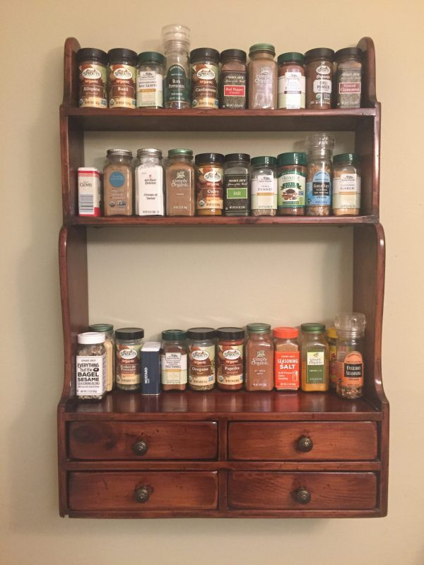 Easy Spice Shelf DIY