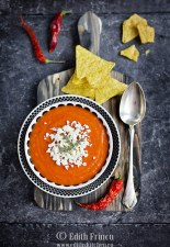 Supa crema de rosii mexicana