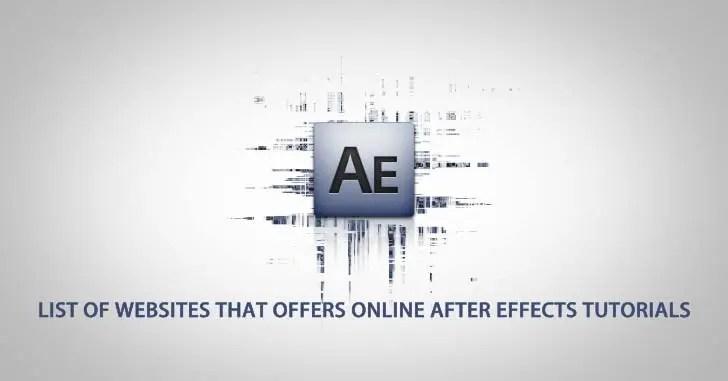 Online After Effects Tutorials