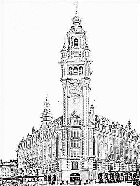 Chambre de Commerce et d'Industrie de Lille et son Beffroi