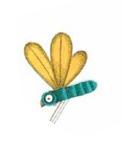 Dessin enfantin de libellule