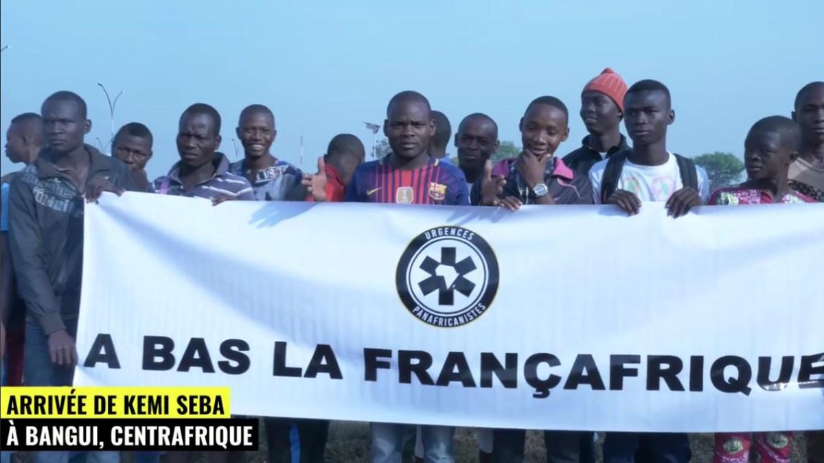 Centrafrique : arrivée de Kemi Seba à l'aéroport de Bangui