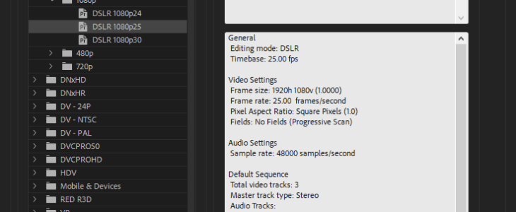Premiere Pro Sequence
