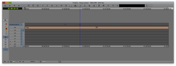 This is an empty timeline with locators on the top track that I renamed to my name and the date.
