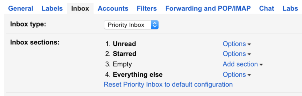Gmail Inbox Settings
