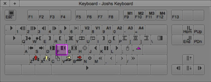 Clear Out Mark Keyboard Shortcut in Avid