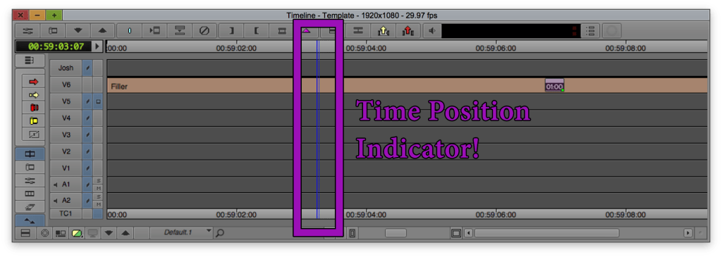 Time Position Indicator...this is what we're moving in Avid