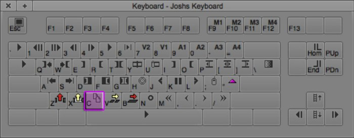 Copy-To-Clipboard Avid Editing Keyboard Shortcut (C)