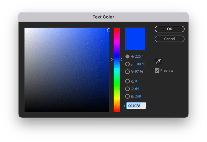 Color Picker for a Stroke in After Effects