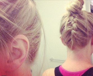 braid and topknot