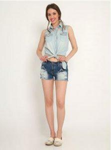 jean shorts celestino