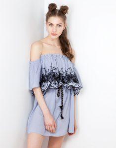 Ανοιξιάτικα και καλοκαιρινά φορέματα Lynne 2017. ble boho forema dantela  lynne casual mini foremata lynne 2017 ... 7203316737c