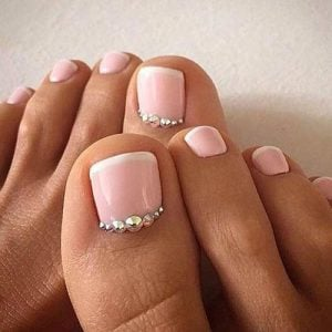 galliko pedicure me strass