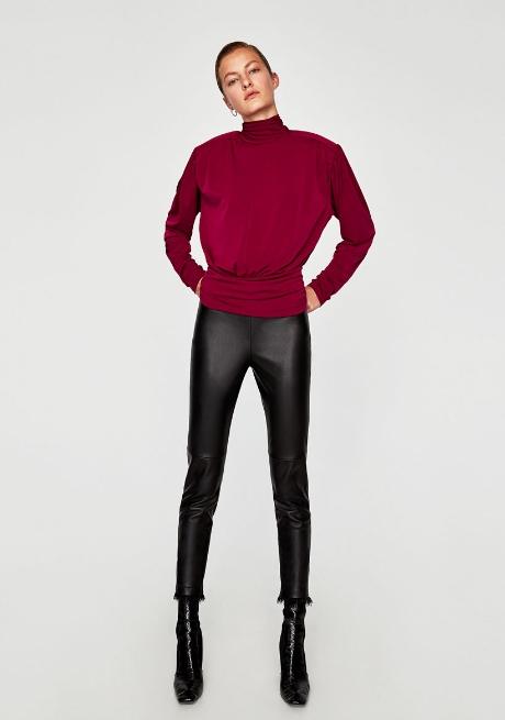 595b6fda8e55 Φθινοπωρινά και χειμωνιάτικα γυναικεία παντελόνια Zara 2018. dermatino  panteloni kastor kolan ...