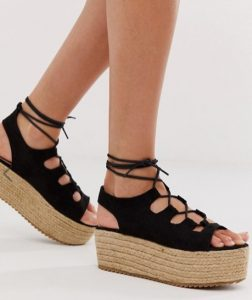 suede black flatforms