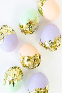 πασχαλινά αυγά με χρυσό