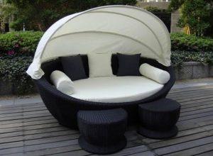 καναπές κήπου τέντα