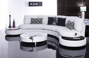 λευκός πενταθέσιος καναπές