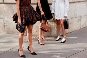 μαύρο,καφέ,λευκό φόρεμα