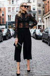μαύρο πουκάμισο με παντελόνα