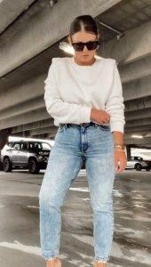 λευκό φούτερ με βάτες