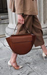 καφέ μοντέρνα γυναικεία τσάντα