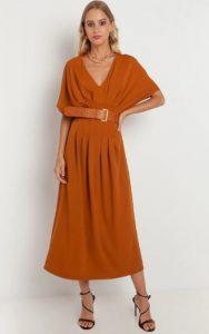 μουσταρδί φόρεμα