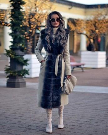 διχρωμο παλτο