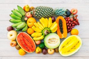 χρωματιστά φρούτα λαχανικά