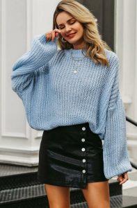 χειμερινό ντύσιμο με φούστα