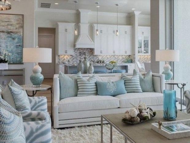 σαλόνι με ήρεμα χρώματα