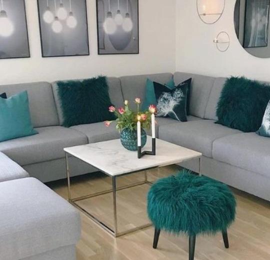 απαλό γκρι καναπές