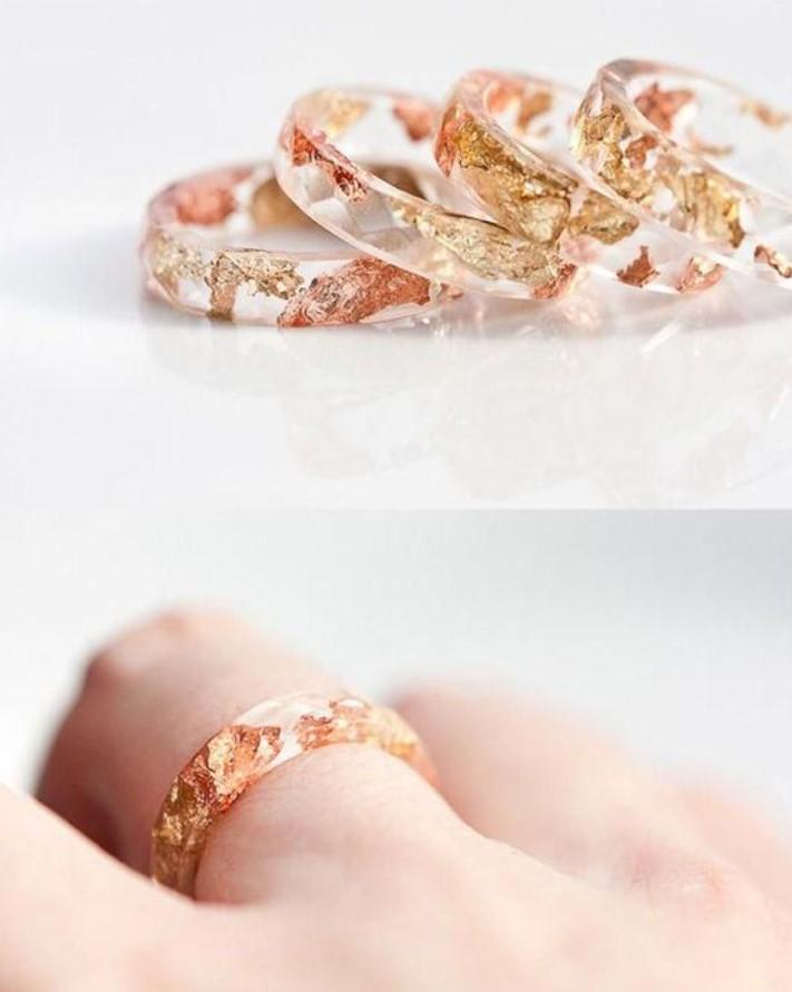 δαχτυλίδια από ρητίνη