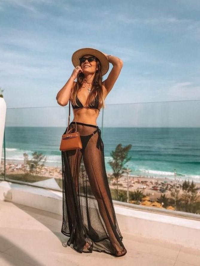 διαφανής φούστα για τη παραλία