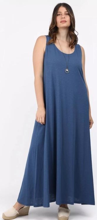 τιραντέ μακρύ φόρεμα με κολιέ