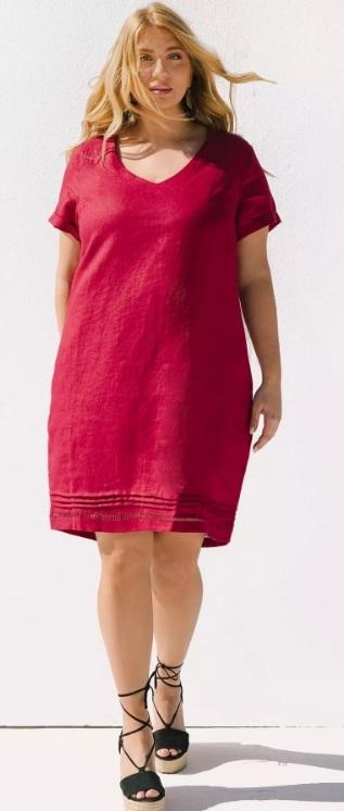 λινά plus size φορέματα καλοκαίρι 2021