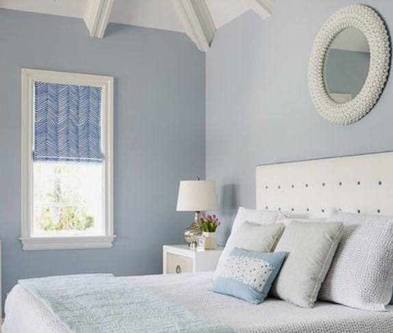 ξεκούραστα χρώματα υπνοδωμάτιο μπλε απαλό