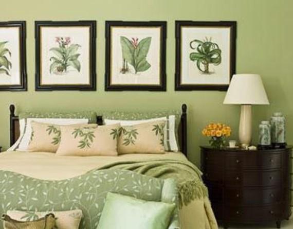 ξεκούραστα χρώματα υπνοδωμάτιο φυστικί