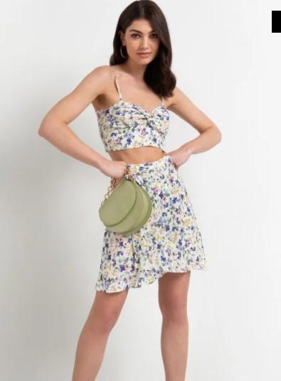 φλοράλ φούστα καλοκαιρινά ρούχα toi moi