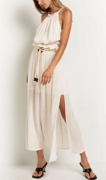 αέρινη φούστα με διαφάνεια