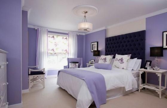 χρώμα λεβάντας χαλαρωτικό για υπνοδωμάτιο