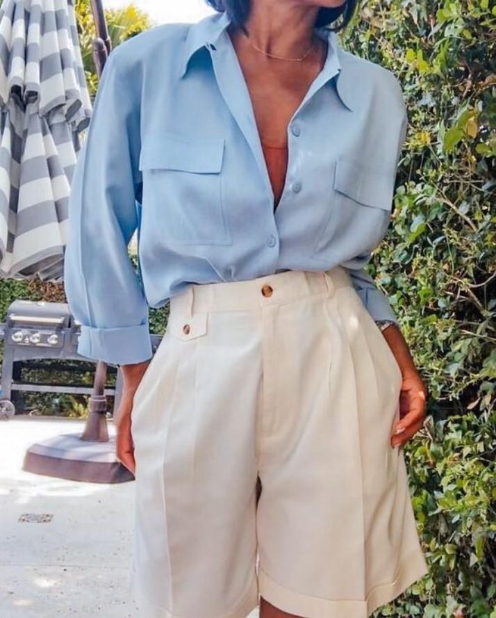 κομψό ντύσιμο με πουκάμισο