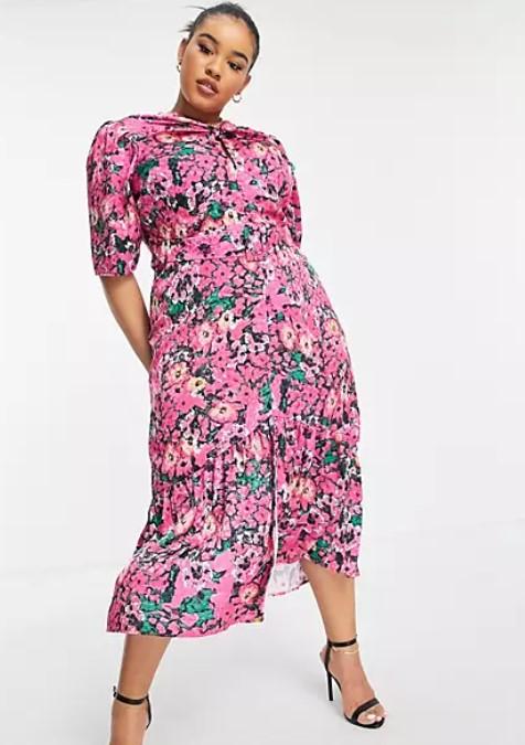floral γυναικείο φόρεμα