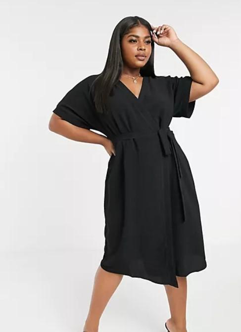 μαύρο κρουαζέ φόρεμα