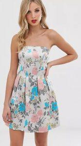 strapless φόρεμα