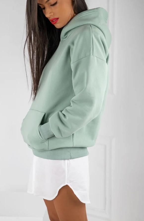 Mint Μπλούζα-φούτερ με κουκούλα