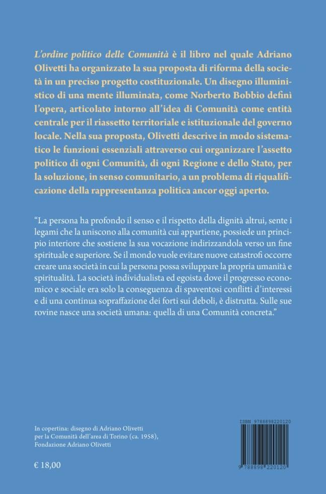 Quarta – L'ordine politico delle Comunità – Adriano Olivetti (a cura di Davide Cadeddu)