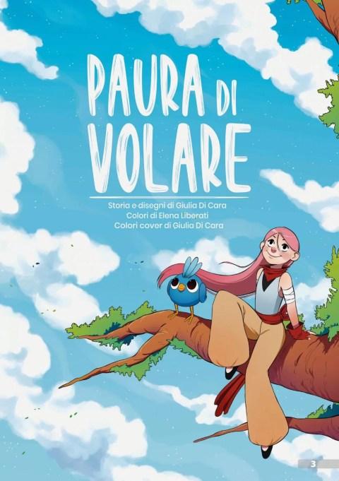 Paura di volare - © Giulia Di Cara (storia e disegni più colore cover) e Elena Liberati (colori)